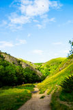 Grüne Hügel, Fluss tauchten im Höchstbezirks-Nationalpark Stockfotografie