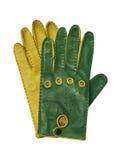 Grüne Handschuhe stockfotos
