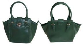 Grüne Handtasche Lizenzfreies Stockfoto