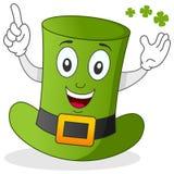 Grüne Hut-Zeichentrickfilm-Figur Stockfoto
