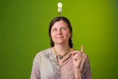 Grüne Idee Lizenzfreies Stockbild
