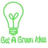 Grüne Ideenglühlampe Lizenzfreie Stockbilder
