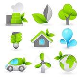 Grüne Ikonen Lizenzfreies Stockfoto