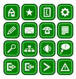 Grüne Ikonen Stockbilder