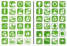 Grüne Ikonen Lizenzfreie Stockbilder