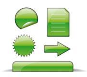 Grüne Ikonen des Webs Stockfoto