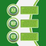 Grüne infographics Fahnen - Designschablonen Stockfotos
