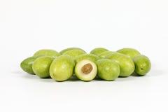 Grüne junge Olive stockfotografie