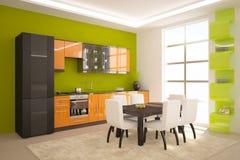 Grüne Küche Stockfoto