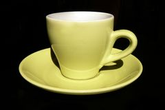 Grüne Kaffeetasse Größengleich Stockfotos