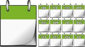 Grüne Kalender Stockbild