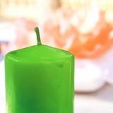 Grüne Kerze Lizenzfreies Stockfoto