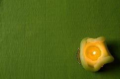 Grüne Kerze Lizenzfreie Stockfotografie