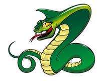 Grüne Kobra der Gefahr Stockfoto