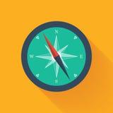 Grüne Kompasskreisikone stock abbildung