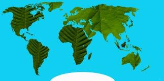 Grüne Kontinente Lizenzfreies Stockbild