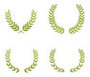 Grüne Kränze Stockbild