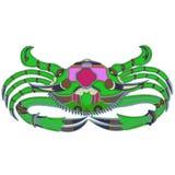 Grüne Krabbe - ein großes Gestaltungselement vektor abbildung