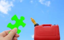 Grüne Kraftstofflösung Stockbild