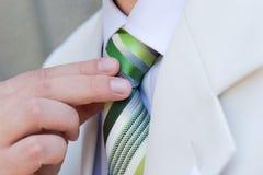 Grüne Krawatte Stockbild