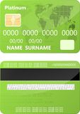 Grüne Kreditkarte Lizenzfreies Stockfoto