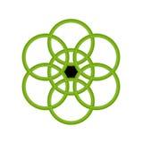 Grüne Kreise Lizenzfreie Stockbilder