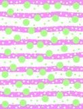 Grüne Kreise und rosa Streifen stock abbildung