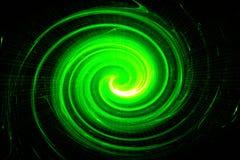Grüne Kreisglühenwelle Scifi- oder Spielhintergrund Stockbilder
