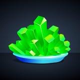 Grüne Kristalle der Eisenschärfe Stockbild