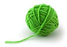Grüne Kugel des Gewindes Stockfoto