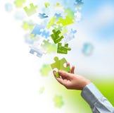 Grüne Lösung Stockbilder