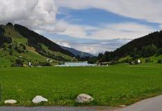 Grüne Landschaft in der Schweiz Lizenzfreies Stockbild
