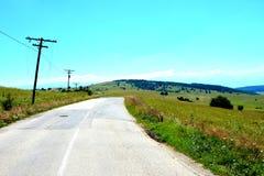 Grüne Landschaft in Siebenbürgen Lizenzfreies Stockfoto