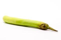 Grüne lange Aubergine Stockfoto