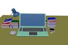 grüne Laptop-Computer Lizenzfreies Stockfoto