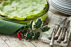 Grüne Lasagne Lizenzfreie Stockbilder