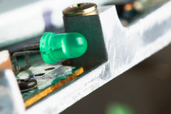 Grüne LED Stockfoto