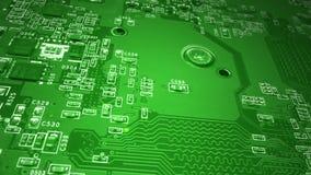 Grüne Leiterplatte stock video