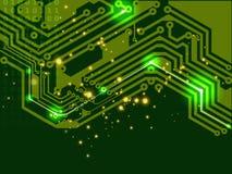 Grüne Leiterplatte (PWB) Lizenzfreie Stockfotografie