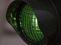 Grüne Leuchte Stockbild
