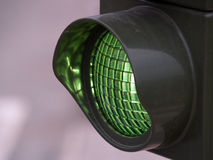 Grüne Leuchte Stockfoto