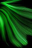 Grüne Lichtwelle Stockfotos