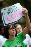 Grüne Liebe Stockfoto