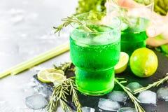 Grüne Limonade Stockfotografie