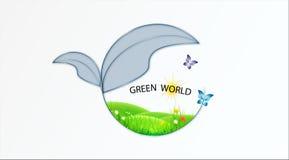 Grüne Logovektorlogo-Designschablone Lizenzfreie Stockfotografie