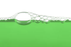 Grüne Luftblasen Stockfoto