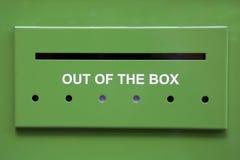 Grüne Mailbox Stockfoto