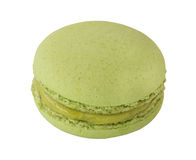 Grüne Makrone, Macaron lokalisierte auf Weiß Stockfoto