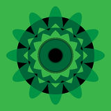 Grüne Mandala mit blauem Auge Stockfotos