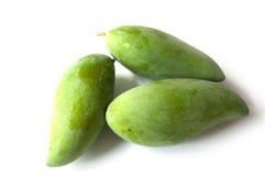 Grüne Mangofrucht drei Lizenzfreie Stockbilder